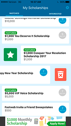 Announcing the Arrival of the Fastweb College Scholarship App | Fastweb