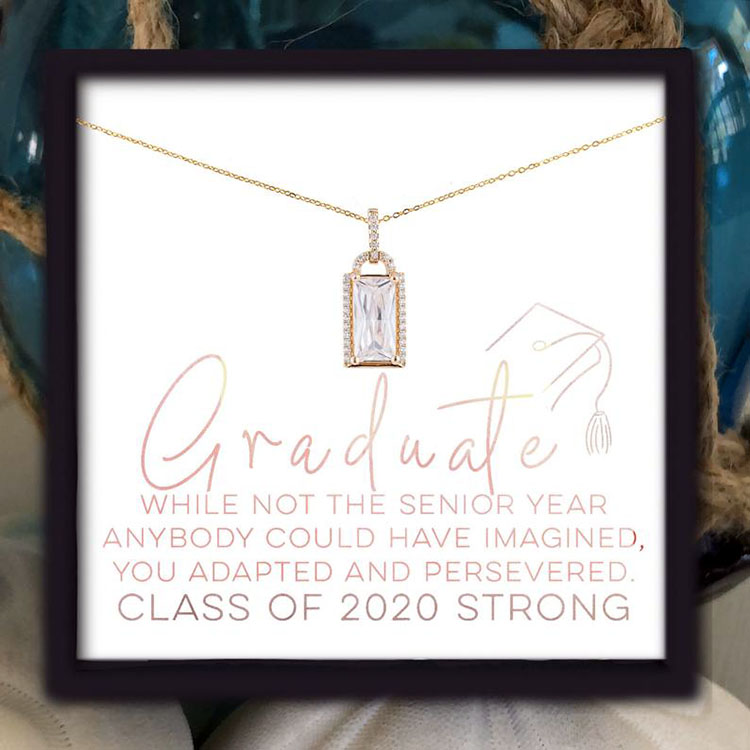 necklace with motivational message
