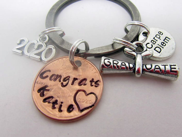 key chain with penny
