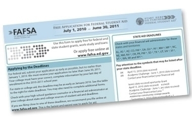 FAFSA Due in as Little as Three Days for some Students