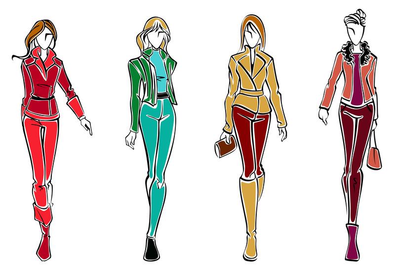 Amazing Women39s Pleated Pants Fashion Flat Template  Illustrator Stuff