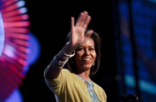 Michelle Obama Backs New College Site