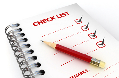 Standardized Test Checklist